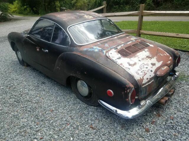 1970 Black Volkswagen Karmann Ghia Coupe with White interior