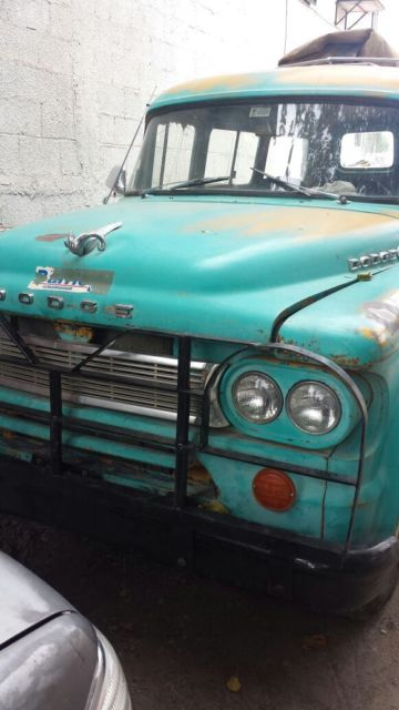 1964 Green Dodge Power Wagon D100 Wagon with Green interior