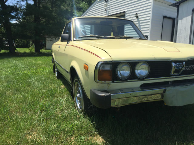 low mileage 1st generation 1979 subaru brat for sale photos technical specifications description. Black Bedroom Furniture Sets. Home Design Ideas