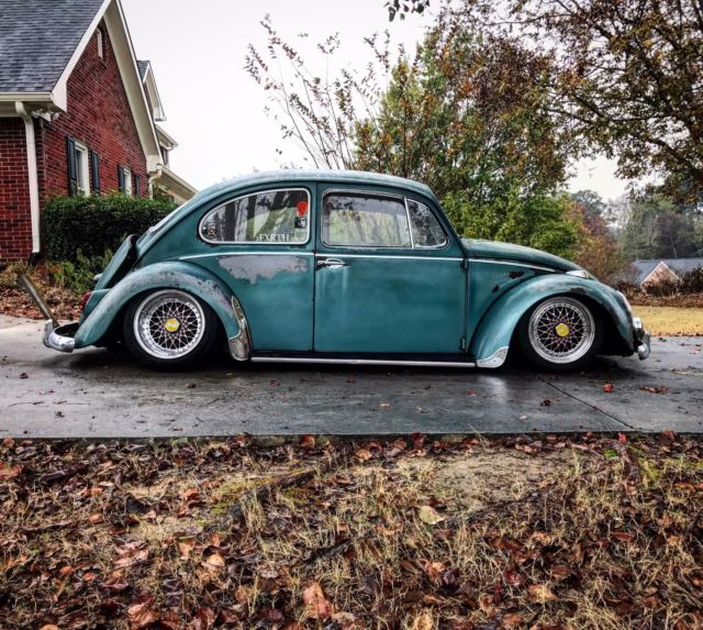 Lowered 1966 Volkswagen Beetle VW Bug Aircooled Slammed for