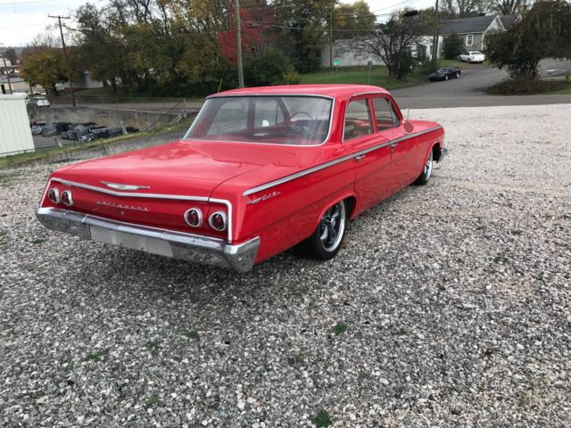 1962 Red Chevrolet Bel Air/150/210 Sedan with Red interior