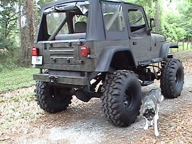 Ls Powered Wrangler Ton Drive Train Tsl Swampers Auto Transmission on 1989 Jeep Wrangler Seat