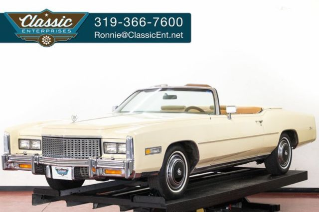 1976 Cadillac Eldorado Convertible with full power and parade boot