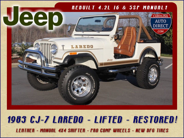 1983 Jeep CJ CJ-7 Laredo 4x4 - RESTORED - LIFTED - NEW TIRES!