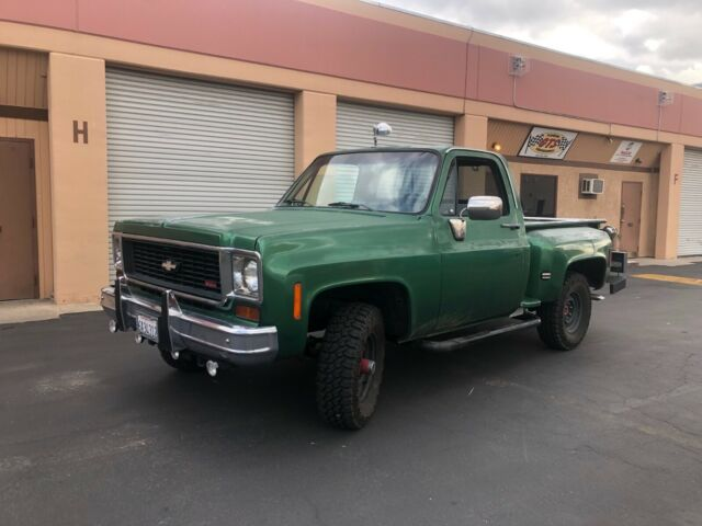 1974 Green Chevrolet C/K Pickup 1500 Standard Cab Pickup with Black interior