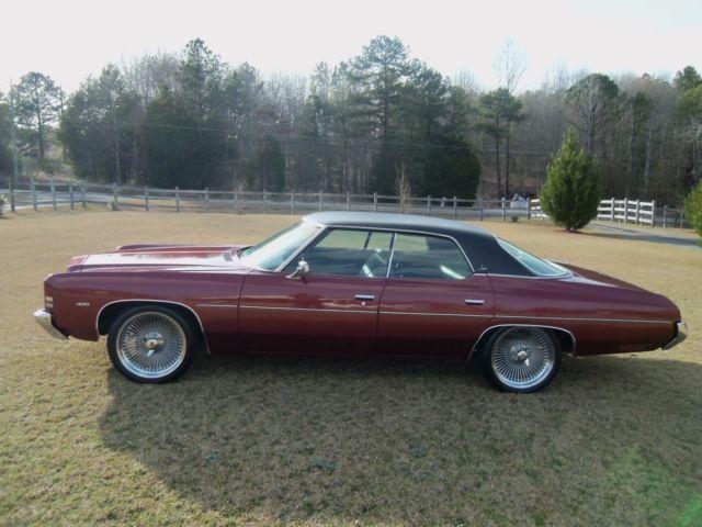 Maroon 1972 chevrolet impala four door sedan with vinyl for Classic house vinyl sale