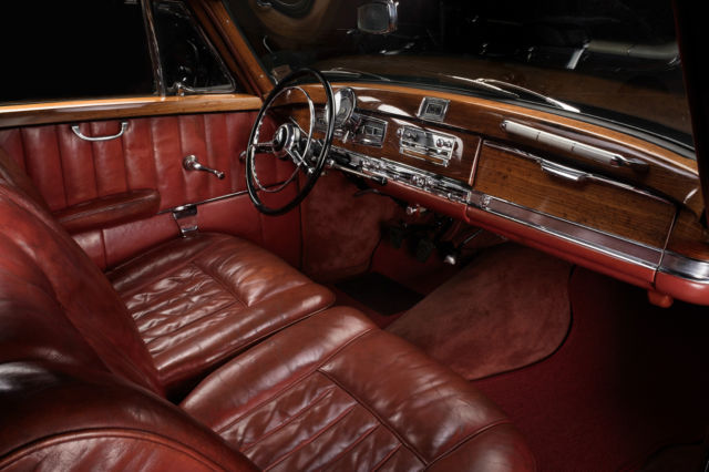 mercedes benz 300s coupe 1955 black with original burgundy leather interior for sale photos. Black Bedroom Furniture Sets. Home Design Ideas