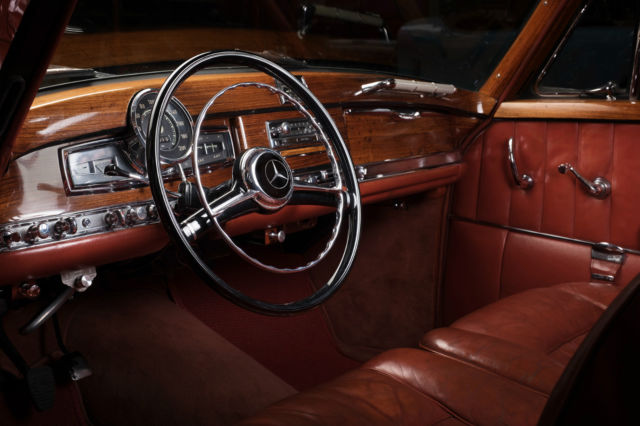 Mercedes Benz 300s Coupe 1955 Black With Original Burgundy Leather Interior For Sale Photos