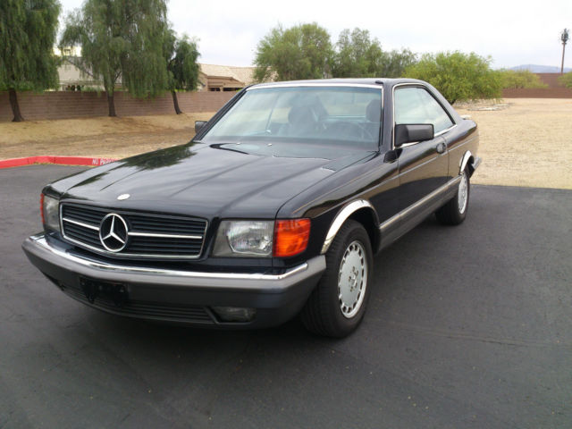 mercedes benz 500 sec black 2 door coupe only 112 900 miles 1985 for sale photos technical. Black Bedroom Furniture Sets. Home Design Ideas