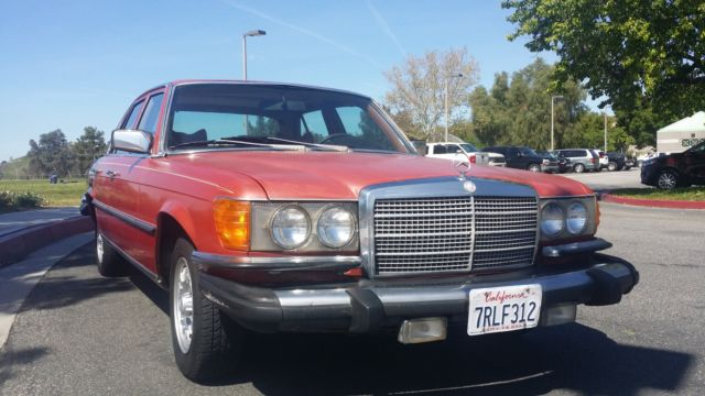 Mercedes W116 300SD Turbo Diesel LOW MILES CLEAN RARE COLOR