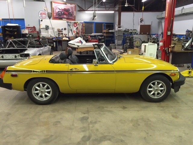 MGB powered by a Rover 3 5 all-aluminum V-8 swap for sale