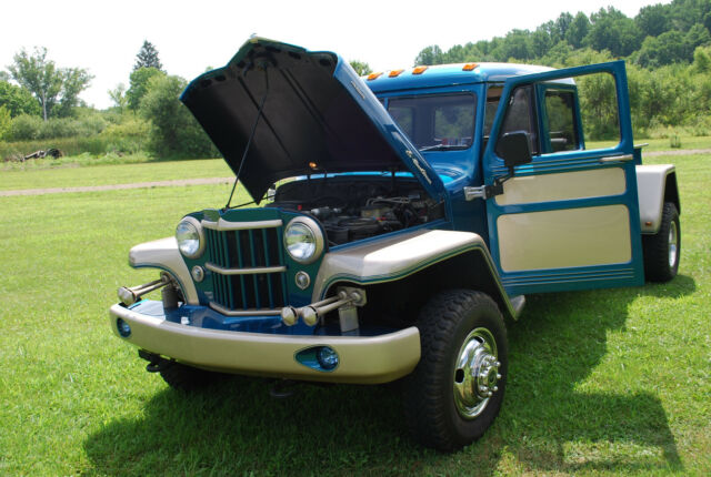 1955 Teal/ Champagne Jeep Other Extended Cab Pickup with Tan interior