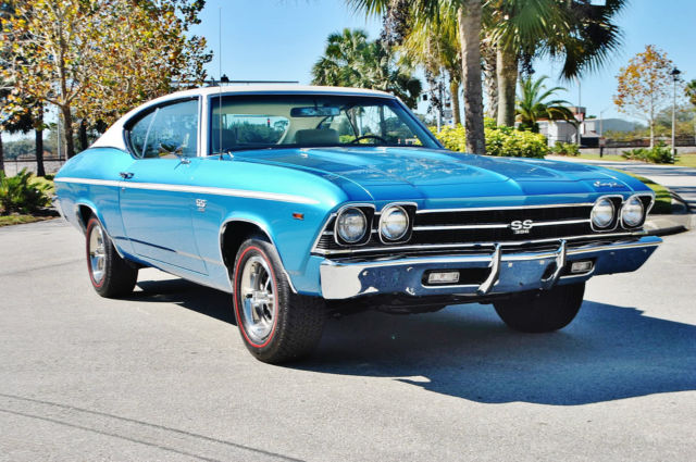 1969 Chevrolet Chevelle SS396 #'s Matching 396 Big Block Buckets Console