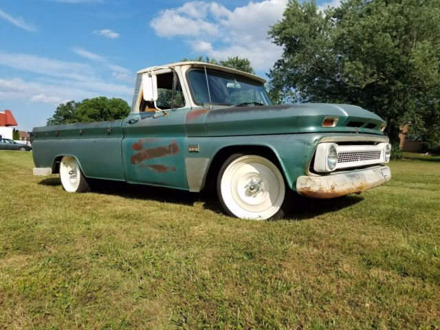 near original lowered 65 c 10 with a great patina transit wheels