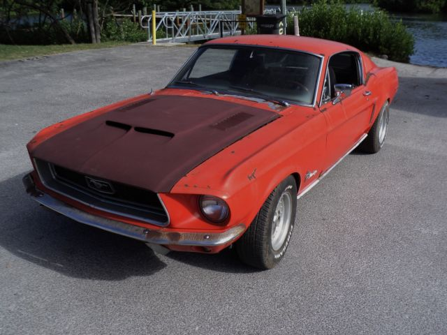 1968 Ford Mustang FASTBACK-RUNS & DRIVES-PROJECT-MOSTLY ORIGINAL!