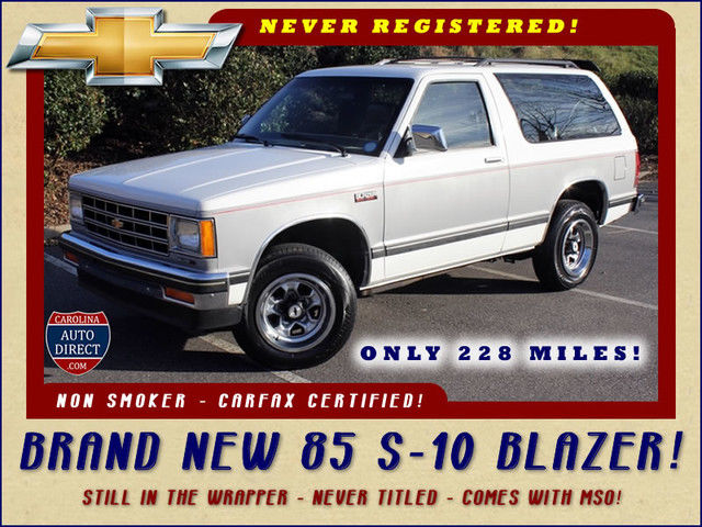 1985 Chevrolet Blazer 2WD- BRAND NEW- Still in the factory wrapper!