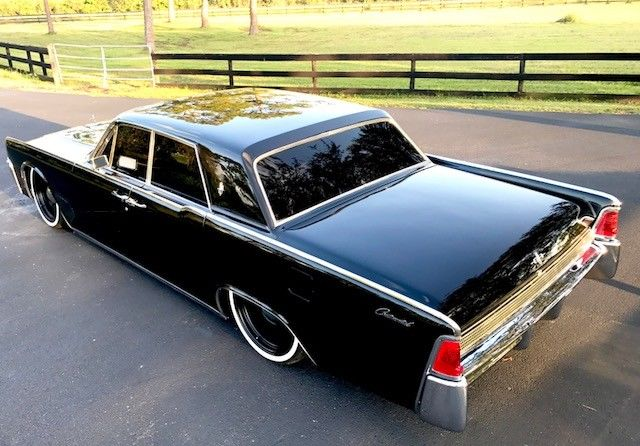 Newly Red 1964 Lincoln Continental Air Ride Mobsteel Detroit Steel Wheels