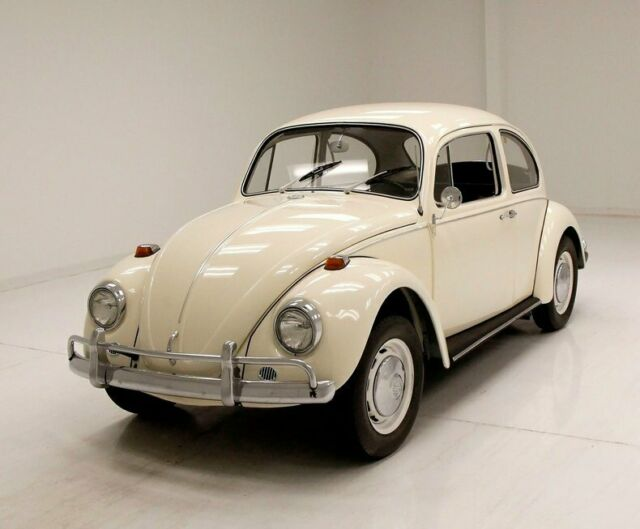 1967 White Volkswagen Beetle - Classic Coupe Sedan with Black interior