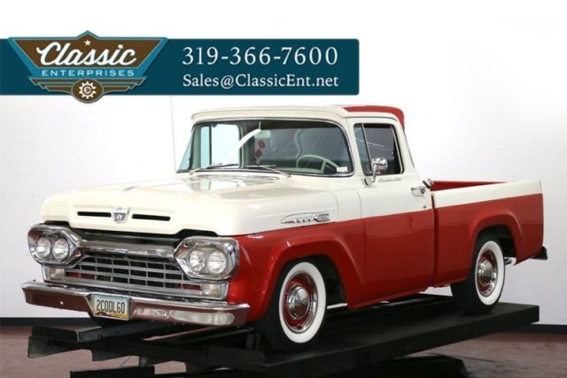 1960 Ford F-100 Correct pickup with wide whites good chrome clean