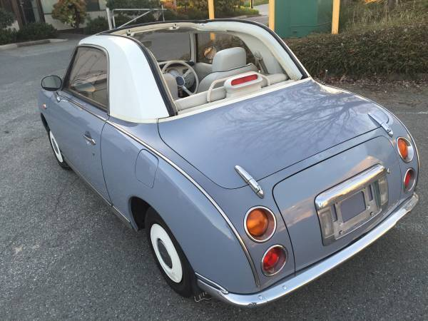 nissan figaro convertible classic coupe for sale photos technical specifications description. Black Bedroom Furniture Sets. Home Design Ideas