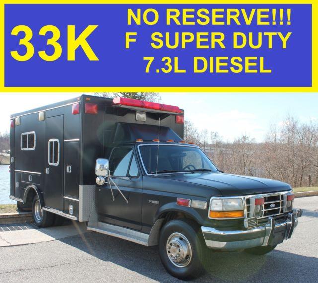 no reserve 1 owner 33k 1992 ford f 350 super duty ambulance 7 3l rh topclassiccarsforsale com 1980 Ford F-450 Ambulance 1989 Ford Type 2 Ambulance