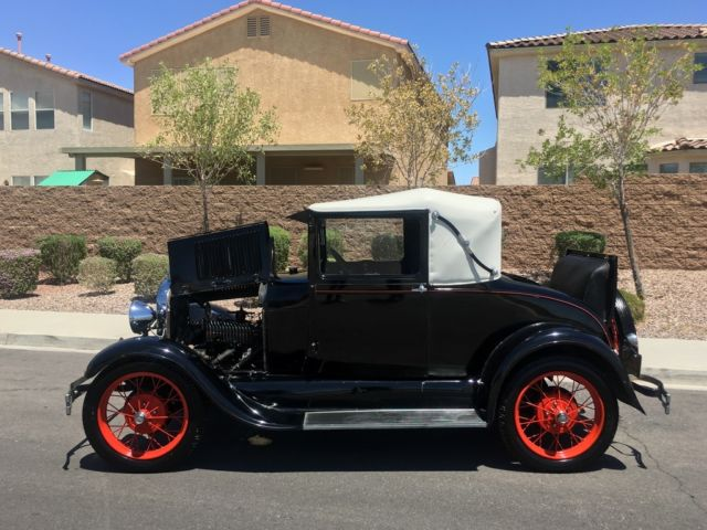 1929 Ford Model A RARE ORIGINAL RAG TOP RUNS AND DRIVES RUMBLE SEAT