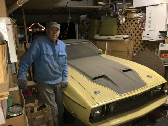 1973 YELLOW Ford Mustang RARE MUSCLE MANUAL V8 YELLOW BARN FIND CALIFORNIA  CONVERTIBLE with BLACK interior