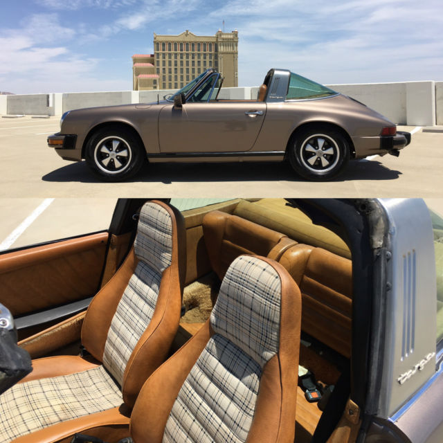 no reserve 1977 porsche 911 s targa 96k original miles rare tartan interior for sale photos. Black Bedroom Furniture Sets. Home Design Ideas