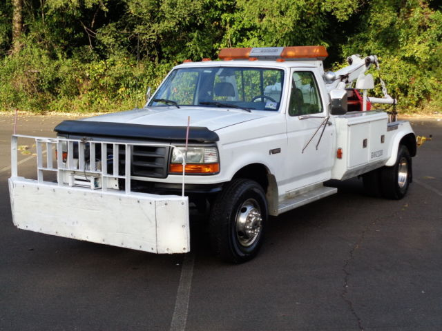 1994 Ford F-450 SD DUALLY WRECKER HAULER TOW PICKUP TRUCK! 33K mls