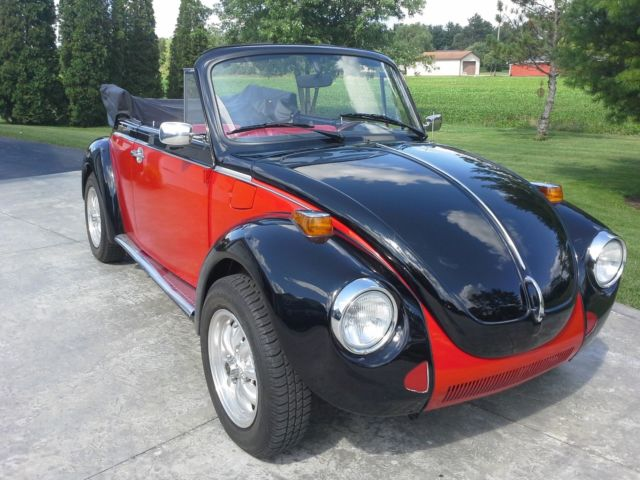 1979 Red Volkswagen Beetle - Classic Convertible with Red interior