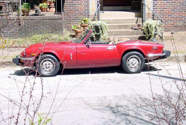 Nr Classic Sports Car 1976 Red British Triumph Spitfire 1500 2 Door