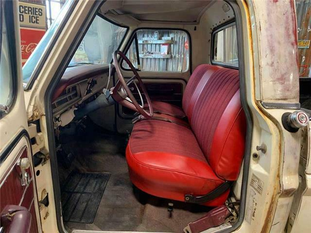 1970 White Ford F-250 Camper Special Pickup Truck with Red interior