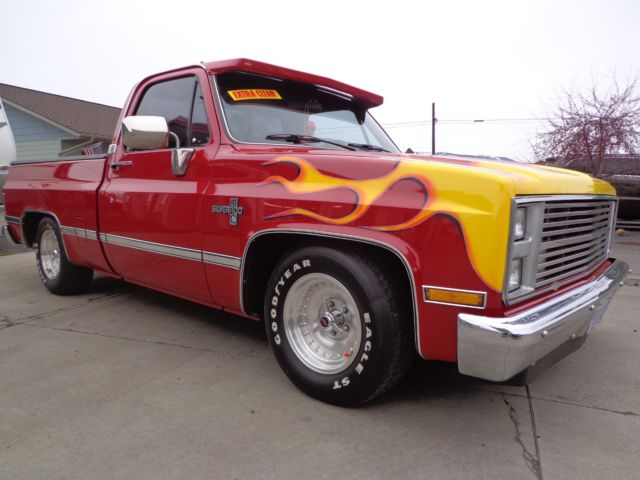 ONE OWNER 1985 CHEVY C10 SHORT BOX PICKUP LOW MILES & SUPER CLEAN
