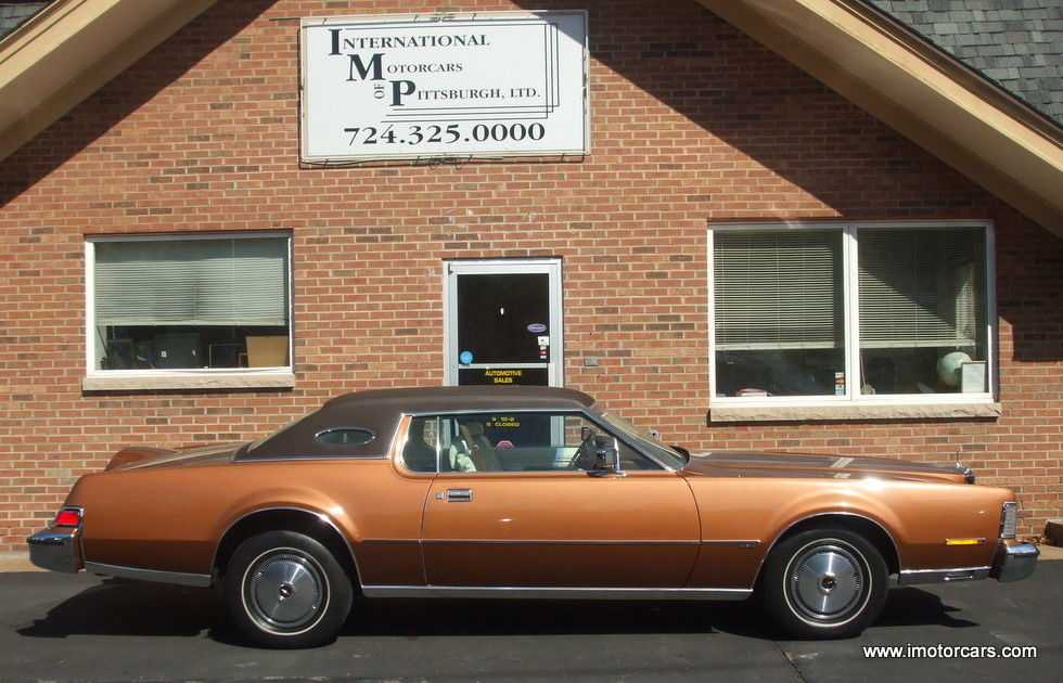 1974 Lincoln Mark Series Continental Mark IV Coupe