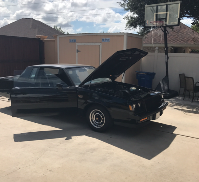 1987 Black Buick Grand National Coupe with Gray / Black interior
