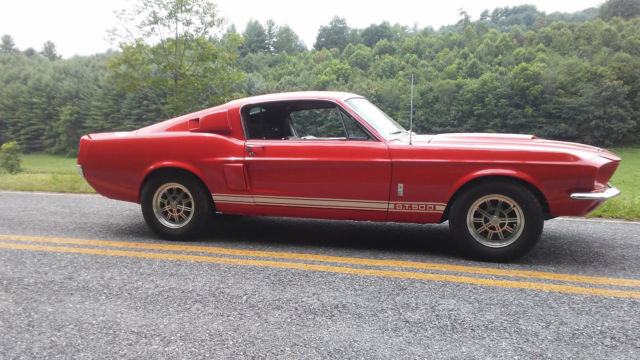 1967 Red Shelby GT500 GT500 Fastback with Black interior