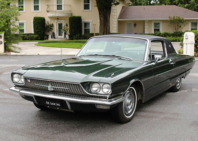 1966 Ivy Green Metsallic Ford Thunderbird LANDAU COUPE - 390 V-8 SURVIVOR - 109K MI Coupe with Black Leather interior
