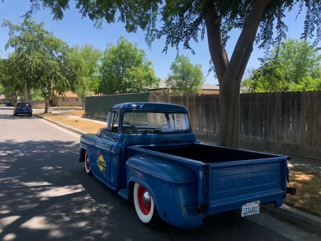 1957 Blue Chevrolet Other Pickups Cab & Chassis with Black interior