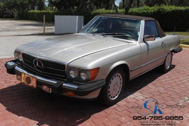 1988 Mercedes-Benz SL-Class 560SL BOTH TOPS ALL ORIGINAL VEHICLE CLEAN CARFAX