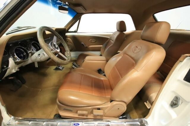 1967 White Ford Mustang Restomod Coupe with Tan interior