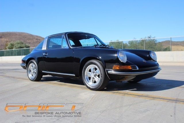 1970 Black Porsche 911 E Coupe with Black interior
