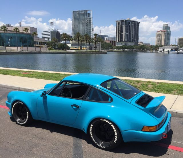 PORSCHE 911 MIAMI BLUE TURBO WIDE BODY LIGHTWEIGHT HOT ROD