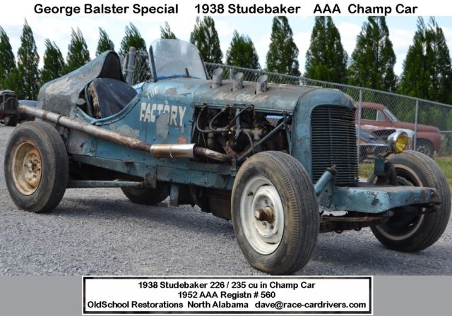 pre war hill climb or road race this 1938 studebaker aaa sanctioned race car for sale photos. Black Bedroom Furniture Sets. Home Design Ideas
