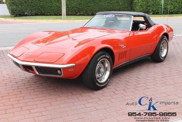 1969 Chevrolet Corvette STINGRAY CONVERTIBLE 4SPEED-PROTECT O PLATE- #s MATCH