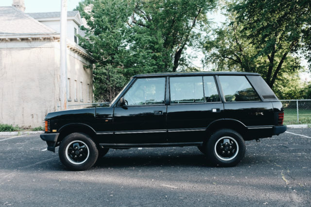 range rover classic lwb black land rover for sale photos technical specifications description. Black Bedroom Furniture Sets. Home Design Ideas