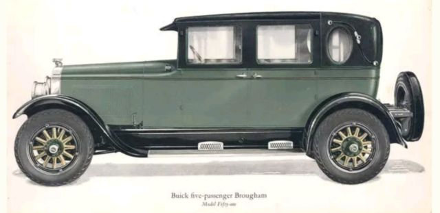 1924 Buick Master Six Series Model 51a Opera Brougham Brougham