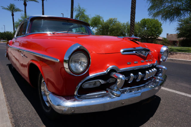 1955 Carnival Red DeSoto Firedome with White/Red interior