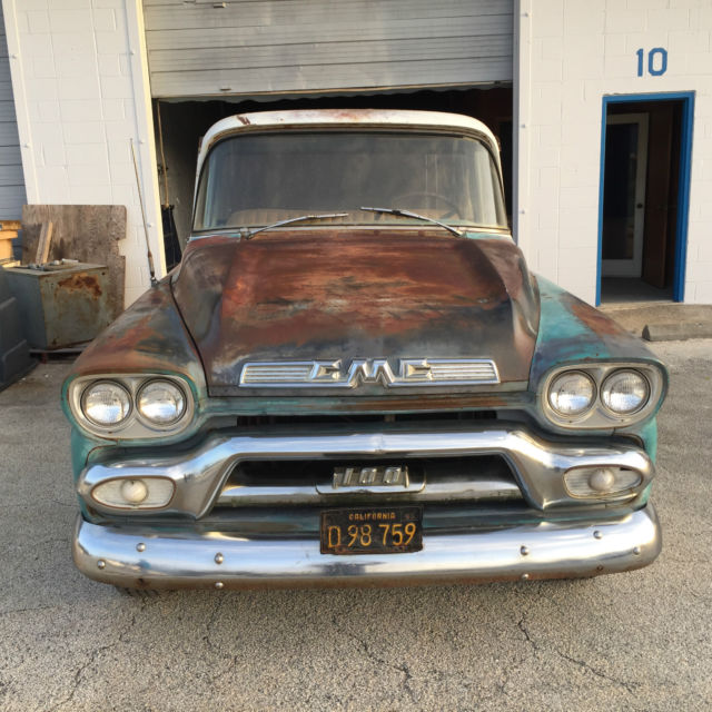 Rare 1959 Gmc V8 Deluxe 12 Ton Short Bed Project Barn Find Chevy