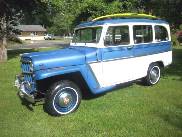 1960 Willys 2 Door Wagon!  2 Wheel Drive! Station Wagon  Surf Wagon