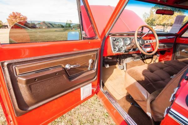 1972 Red Chevrolet Other Pickups Cheyenne SWB Pickup with Tan interior